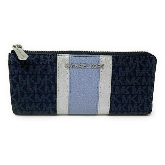 03eee7ca4555 Michael Kors Bags | Jet Set Travel Wallet Admiral Blue | Poshmark